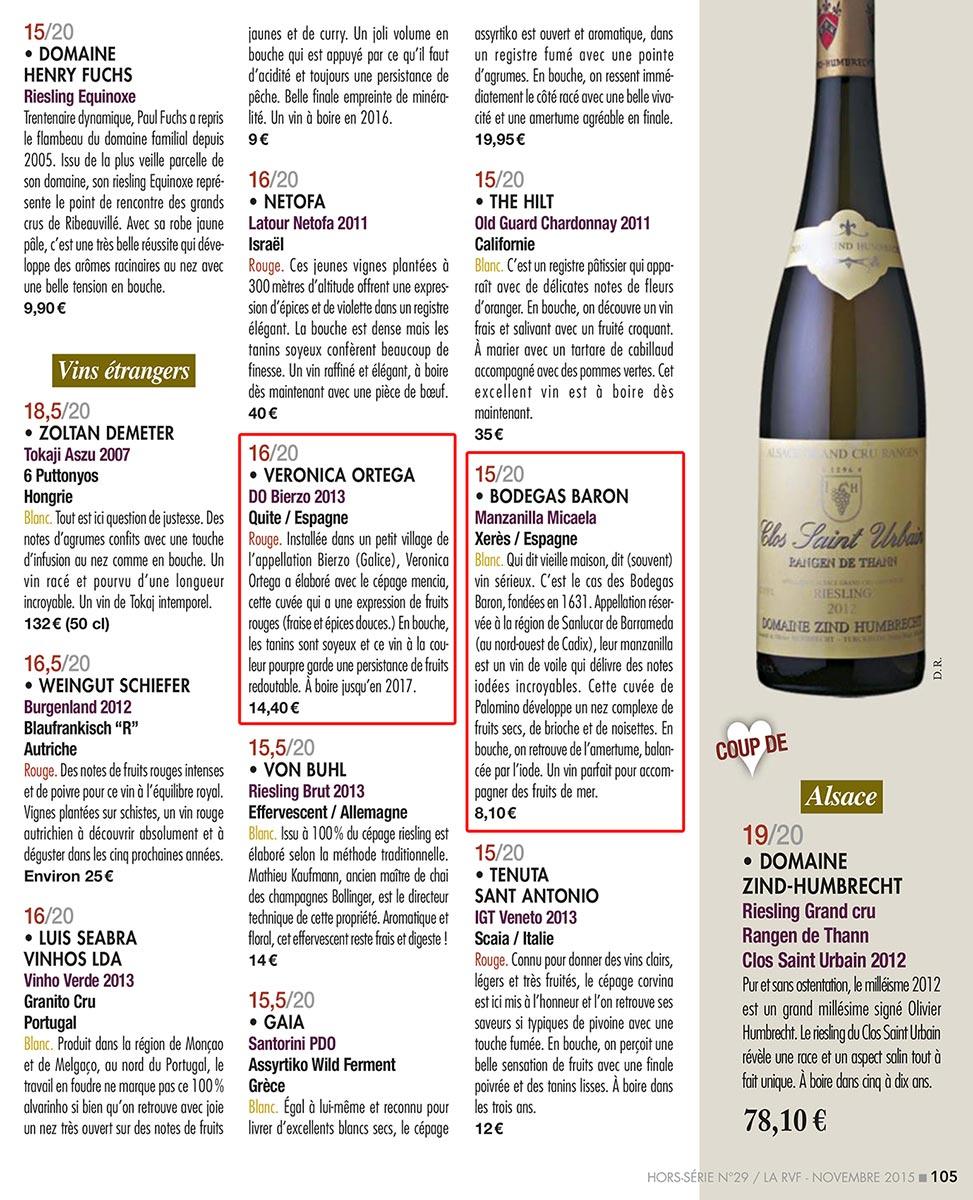 Millesimes vins espagnols