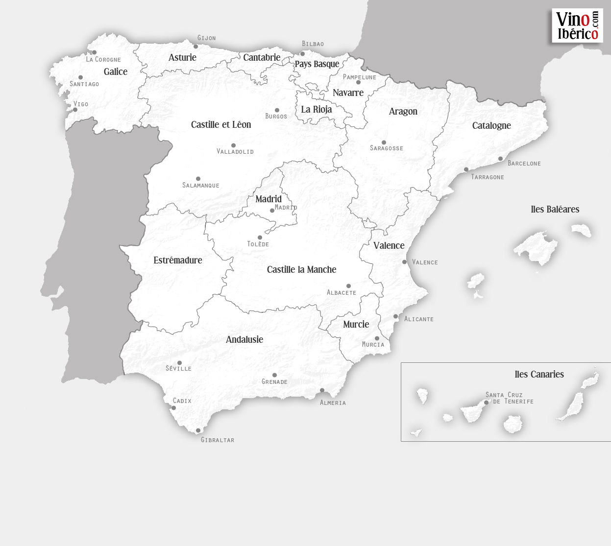 Carte Vin Espagne.Vino Iberico Vin Espagnol